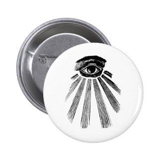 All Seeing Eye Mason Pinback Buttons