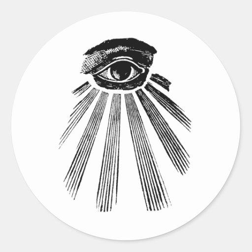 All Seeing Eye Mason Classic Round Sticker