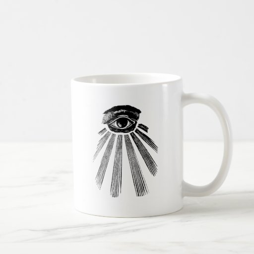 All Seeing Eye Mason Coffee Mug