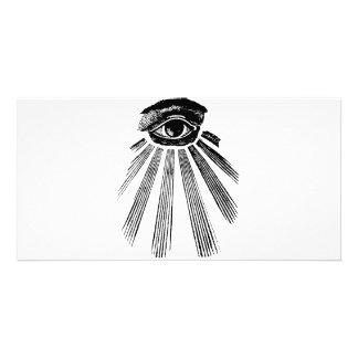 All Seeing Eye Mason Personalized Photo Card