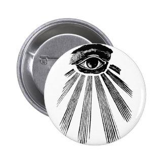 All Seeing Eye Mason Pinback Button