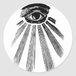 All Seeing Eye Mason Round Stickers