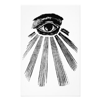 All Seeing Eye Mason Stationery Paper