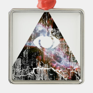 All Seeing Eye Metal Ornament