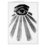 All Seeing Eye NWO Illuminati New World Order Greeting Cards