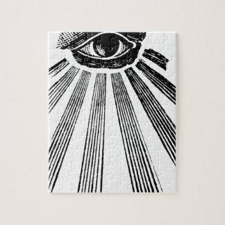 All Seeing Eye NWO Illuminati New World Order Jigsaw Puzzle