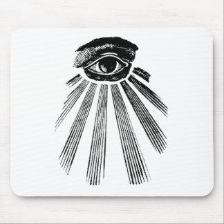 All Seeing Eye NWO Illuminati New World Order Mouse Pad
