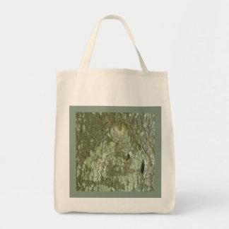 """All Seeing Eye"" Oak Tree Eye Bark Camo Reusable Tote Bag"