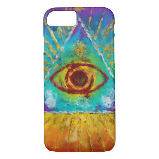 All Seeing Eye Of God - abstract sketchy Art iPhone 8/7 Case