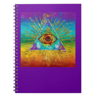All Seeing Eye Of God - abstract sketchy Art Note Books
