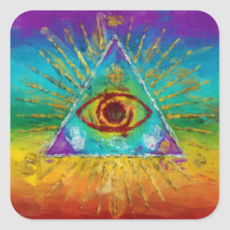 All Seeing Eye Of God - abstract sketchy Art Sticker