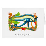 All Seeing Eye Of Horus - In Deepest Sympathy Card