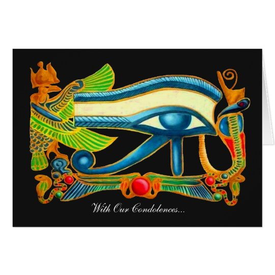 All Seeing Eye Of Horus - Our Condolences Card