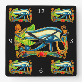 All Seeing Eye Of Horus Square Wall Clock