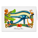 All Seeing Eye Of Horus - Thinking of You Greeting Card
