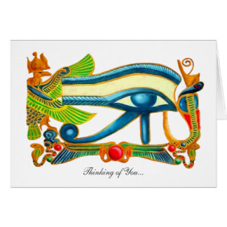 All Seeing Eye Of Horus - Thinking of You Card