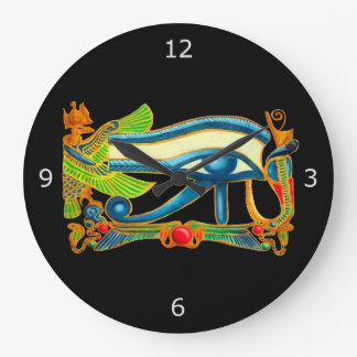 All Seeing Eye Of Horus Wall Clocks
