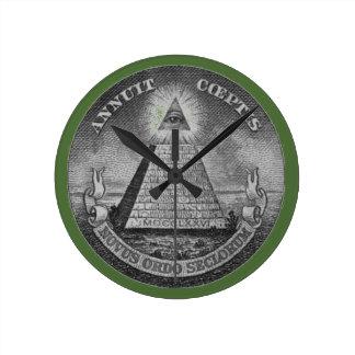 All Seeing Eye of the Illuminati Wall Clock