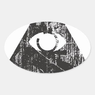 All Seeing Eye Oval Sticker