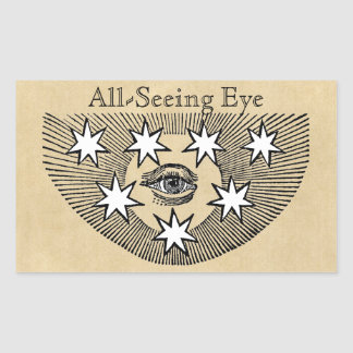 All-Seeing Eye Personalized Rectangular Sticker