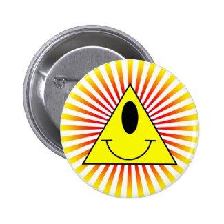 All seeing eye pinback button