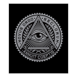 All seeing eye poster