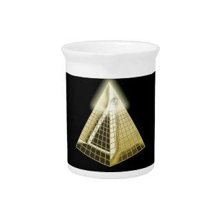 All Seeing Eye Pyramid 1 Drink Pitcher