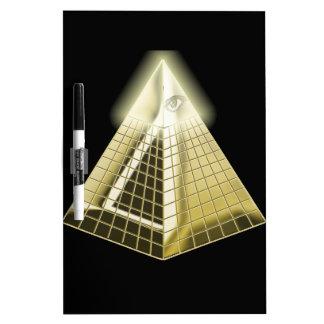 All Seeing Eye Pyramid 1 Dry Erase Board