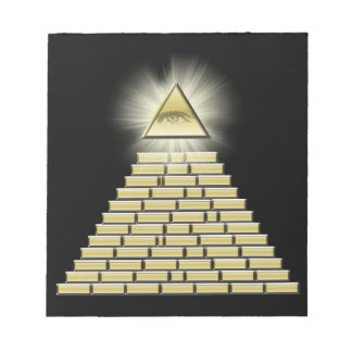 All Seeing Eye Pyramid 2 Note Pad