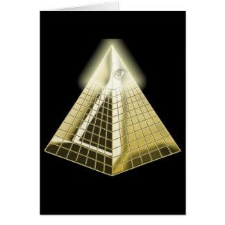 All Seeing Eye Pyramid Card