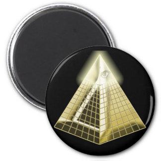 All Seeing Eye Pyramid Magnet