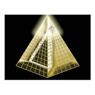 All Seeing Eye Pyramid Postcard