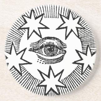 All-Seeing Eye Sandstone Coaster
