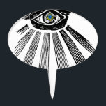 "All Seeing Eye Square and Compass Masonic Cake Topper<br><div class=""desc"">All Seeing Eye Square and Compass Masonic pupil. Mason Freemason Freemasonry Customize this! Just click the &quot;Customize It&quot; button and You can easily change the size of the graphic, add your own words, names, events, reposition it, make it bigger, smaller, etc. And check out our other Zazzle products for other...</div>"