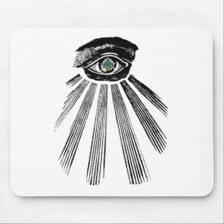 All Seeing Eye Square and Compass Masonic Mouse Pads
