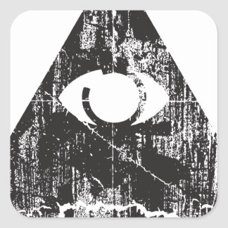 All Seeing Eye Square Sticker