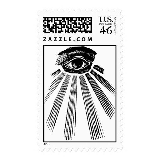 All seeing eye stamp