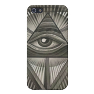 All Seeing Eye + Traingles IPhone 4 case