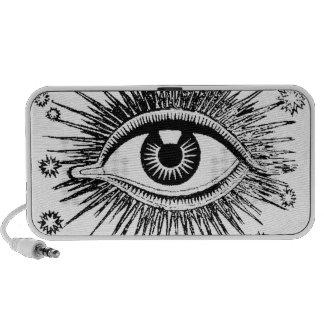 All Seeing Mystic Eye Eyeball Watching You Odd iPod Speaker