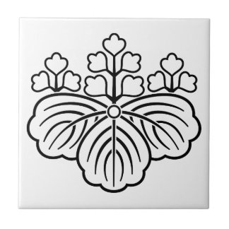 All shadowed paulownia with 5&3 blooms ceramic tile