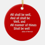 All Shall Be Well Christmas Tree Ornaments