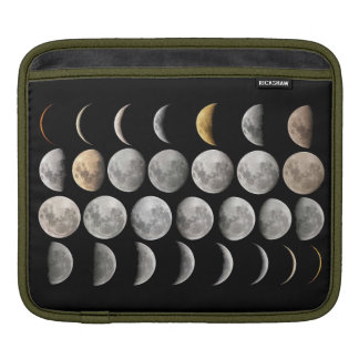 All sides of the Moon I-Pad Case Sleeve For iPads
