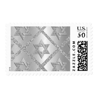 All Silver Star of David Postage