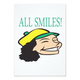 All Smiles 5x7 Paper Invitation Card
