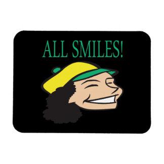 All Smiles Vinyl Magnet