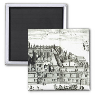 All Souls College, Oxford University, 1675 2 Inch Square Magnet