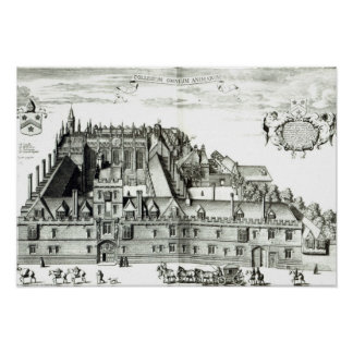 All Souls College, Oxford University, 1675 Poster