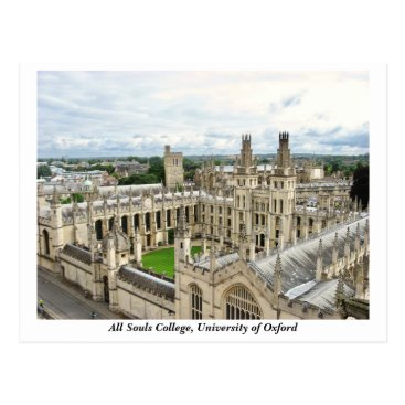 Beach Themed All Souls College, University of Oxford, England Postcard