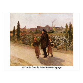 All Souls' Day By Jules Bastien-Lepage Post Cards