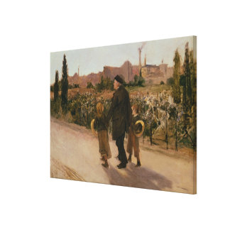 All Souls' Day, c.1882 Canvas Print